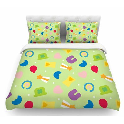 Charms of Luck  Featherweight Duvet Cover Size: Twin