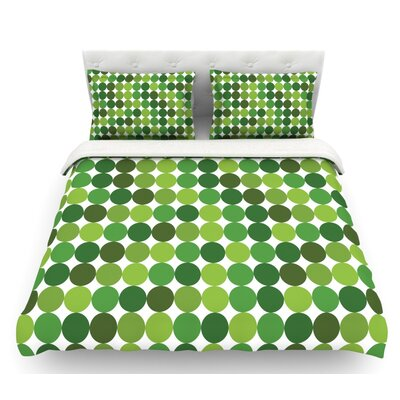 Noblefur  Featherweight Duvet Cover Color: Green, Size: King