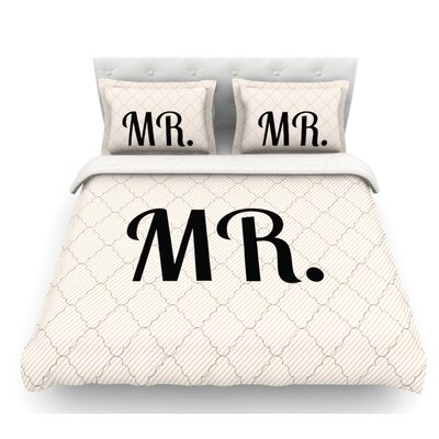 MR  Featherweight Duvet Cover Size: Queen, Fabric: Lightweight Polyester