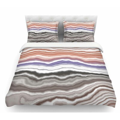 Iris Lake Bed  Geological Abstract Featherweight Duvet Cover Size: King