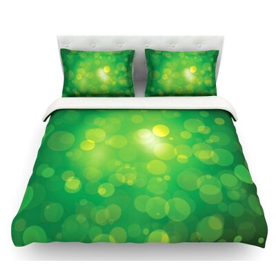 Radioactive  Bokeh Featherweight Duvet Cover Size: Twin, Fabric: Lightweight Polyester