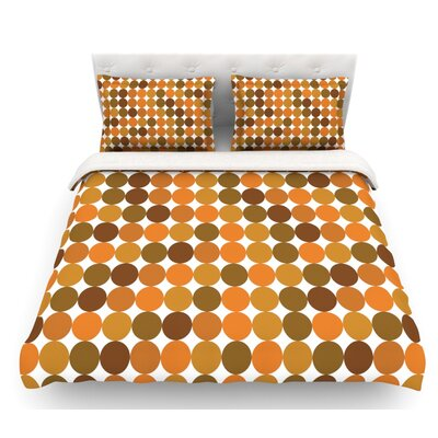 Noblefur  Featherweight Duvet Cover Color: Orange, Size: King