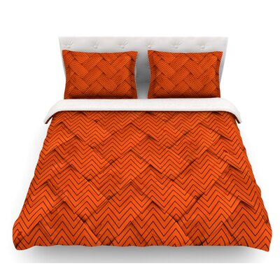 Chevron Weave  Featherweight Duvet Cover Size: Queen, Fabric: Woven Polyester