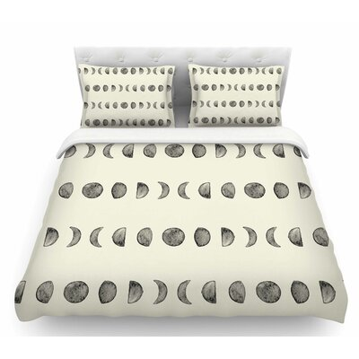 Phases of the Moon  Featherweight Duvet Cover Size: King