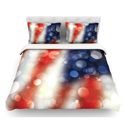 Patriot  America Bokeh Featherweight Duvet Cover Size: Twin, Fabric: Lightweight Polyester