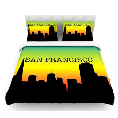San Francisco  Featherweight Duvet Cover Size: Twin, Fabric: Lightweight Polyester