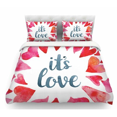 Its Love  Featherweight Duvet Cover Size: Twin