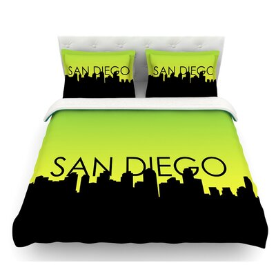 San Diego  Featherweight Duvet Cover Size: Queen