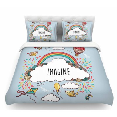 Imagine  Fantasy Illustration Featherweight Duvet Cover Size: King