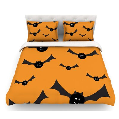 Going Batty  Featherweight Duvet Cover Size: Twin, Fabric: Woven Polyester