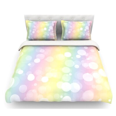 Pastel Prism  Bokeh Featherweight Duvet Cover Size: King/California King, Fabric: Woven Polyester