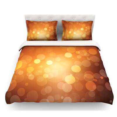 Sunrise  Bokeh Featherweight Duvet Cover Size: Twin