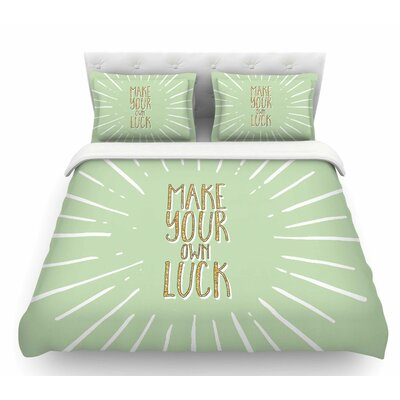 Make Your Own Luck  Featherweight Duvet Cover Size: Queen