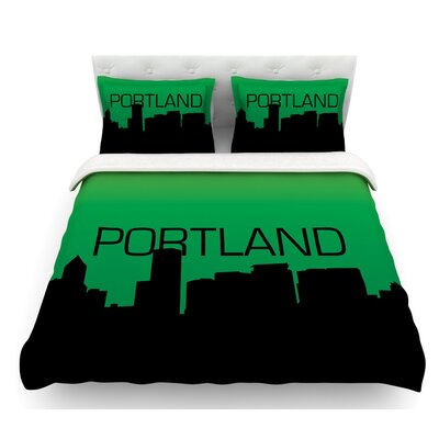 Portland  Featherweight Duvet Cover Size: Queen, Fabric: Cotton