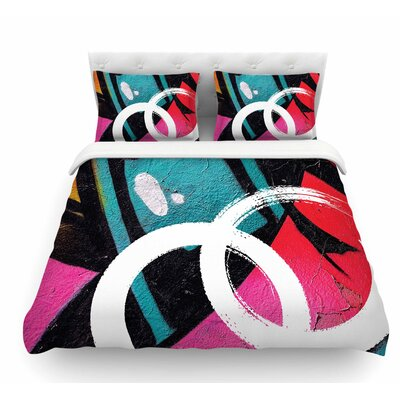 Channel Zero by Just L Illustration Featherweight Duvet Cover Size: King