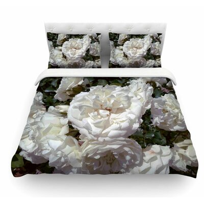 Flores Blancas by Julia Grifol Nature Featherweight Duvet Cover Size: Twin