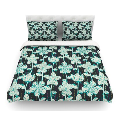 My Spotted Flowers by Julia Grifol Featherweight Duvet Cover Size: Queen, Fabric: Lightweight Polyester