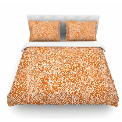 Garden Flowers by Julia Grifol Floral Featherweight Duvet Cover Size: King