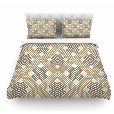 Geometries by Julia Grifol Geometric Featherweight Duvet Cover Size: King