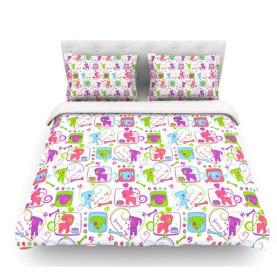 My Loving Dogs by Julia Grifol Featherweight Duvet Cover Size: Queen