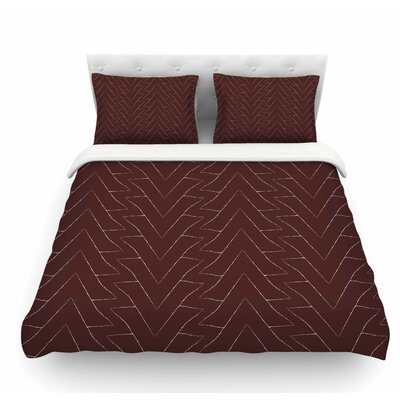 Triangles by Julia Grifol Featherweight Duvet Cover Size: Twin