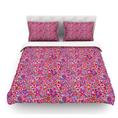 My Dreams in Color by Julia Grifol Stars Featherweight Duvet Cover Size: Twin