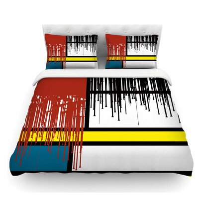 Saint Drips by Just L Abstract Featherweight Duvet Cover Size: Twin