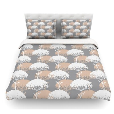 Charming Tree by Julia Grifol Featherweight Duvet Cover Size: King, Fabric: Cotton