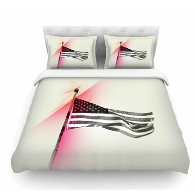 Capture the Flag by Just L Featherweight Duvet Cover Size: King