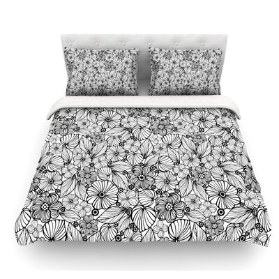 Candy Flowers by Julia Grifol Featherweight Duvet Cover Size: Queen