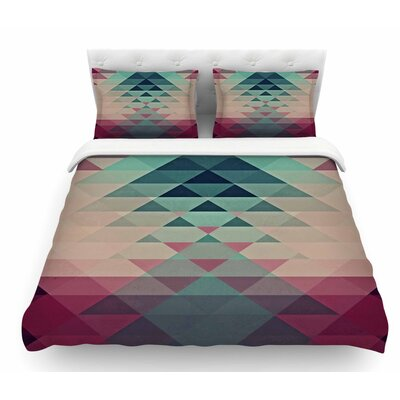 Hipster by Nika Martinez Featherweight Duvet Cover Color: Maroon/Teal, Size: King