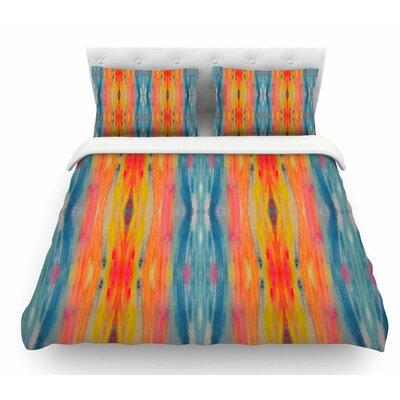 Boho Tie Dye by Nika Martinez Featherweight Duvet Cover Size: Twin