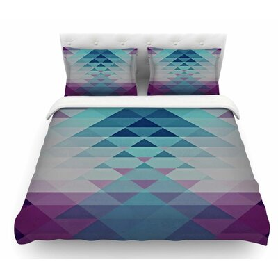 Hipster by Nika Martinez Featherweight Duvet Cover Color: Blue/Lavender, Size: King