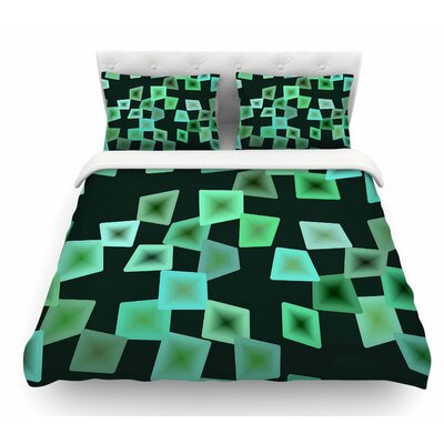 Seaglass on the Shore Digital Featherweight Duvet Cover Size: Queen