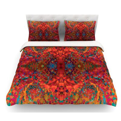 Sea by Nikposium Abstract Featherweight Duvet Cover Size: King/California King, Fabric: Woven Polyester