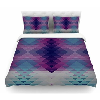 Hipsterland by Nika Martinez Featherweight Duvet Cover Color: Purple/Teal, Size: King