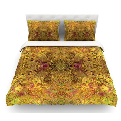 Goldenrod by Nikposium Featherweight Duvet Cover Size: King, Fabric: Lightweight Polyester