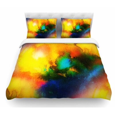 Good Vibrations Abstract Featherweight Duvet Cover Size: Queen