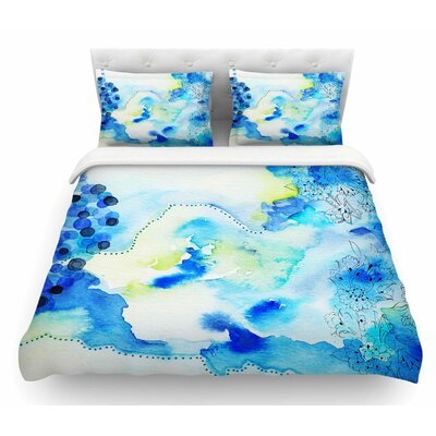 Deep Sea by Li Zamperini Featherweight Duvet Cover Size: Queen