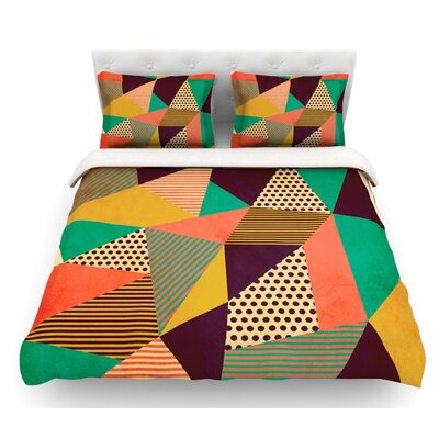 Geometric Love II by Louise Machado Featherweight Duvet Cover Size: King, Fabric: Lightweight Polyester