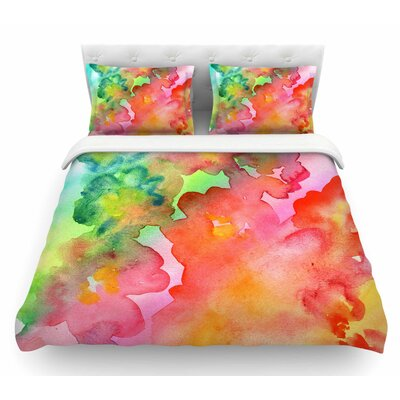 Spring Colors by Louise Machado Floral Featherweight Duvet Cover Size: Queen