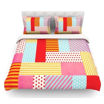 Geometric Pop by Louise Machado Abstract Featherweight Duvet Cover Size: King, Fabric: Lightweight Polyester