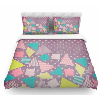 Candy by Louise Machado Pastel Featherweight Duvet Cover Size: Queen