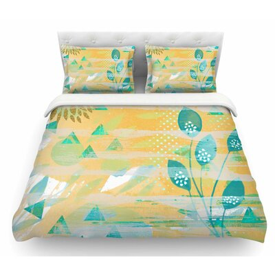 Foliage by Li Zamperini Featherweight Duvet Cover Size: Queen