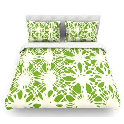 Drawnwork by Laura Nicholson Featherweight Duvet Cover Size: Queen