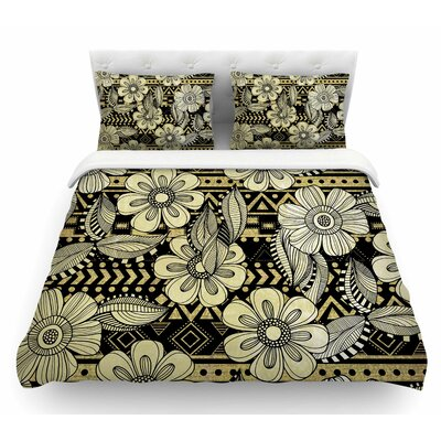 Ink by Louise Machado Floral Featherweight Duvet Cover Size: Queen
