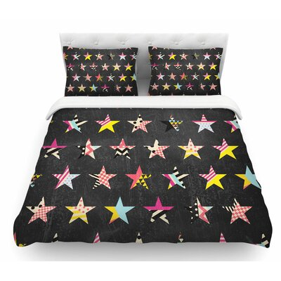 Dancing Stars by Louise Machado Featherweight Duvet Cover Size: Queen