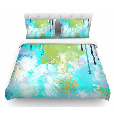 Tropical by Li Zamperini Featherweight Duvet Cover Size: Queen