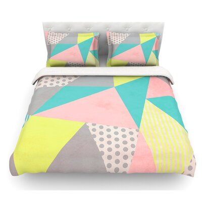 Geometric Pastel by Louise Machado Featherweight Duvet Cover Size: Queen
