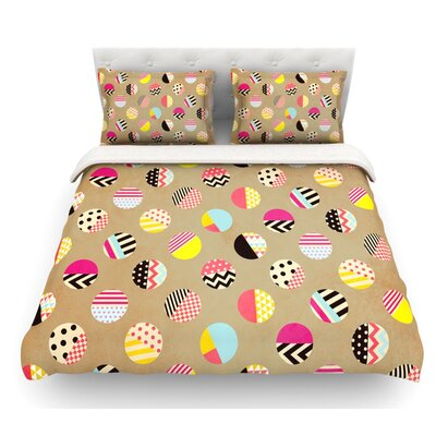 Fun Circle by Louise Machado Geometric Featherweight Duvet Cover Size: King, Fabric: Cotton